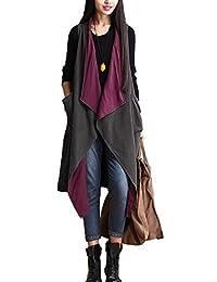 Vogue of Eden Women Oversized Lightweight Sleeveless Open Front Drape Cardigan