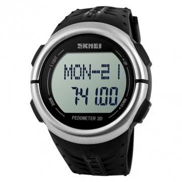 Bheema Skmei 1066 Alarma Cronómetro Banda de Silicona de Reloj Digitale Deporte Impermeable al Agua: Amazon.es: Relojes