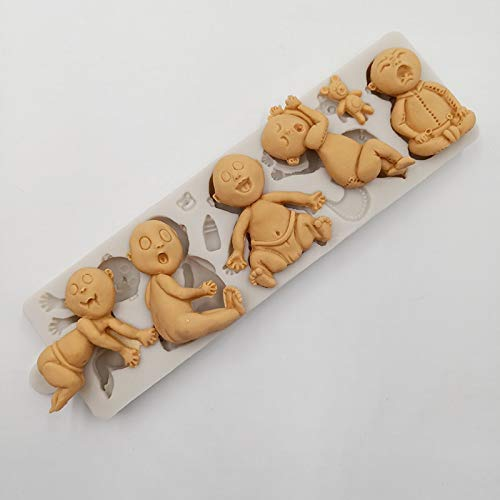 minsunbak Funny Little Person Shape Silicone Mold Halloween Series Cake Decorating Tools Chocolate Mold