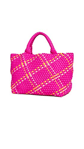 Naghedi Women's St Barths Small Tote, Sunset, Pink, Plaid, One Size