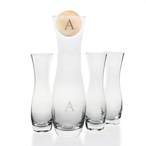 (Cathy's Concepts Personalize 4pc Rustic Unity Sand Ceremony Set, Letter A)