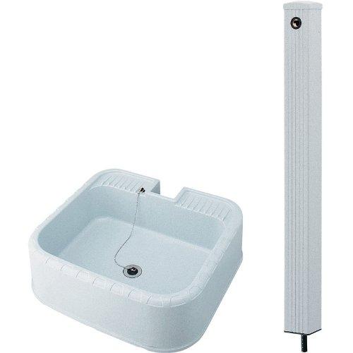 KAKUDAI/カクダイ 624-076(水栓柱80角) + 624-926(水栓柱パン) セット B00CZ54X6K 15720