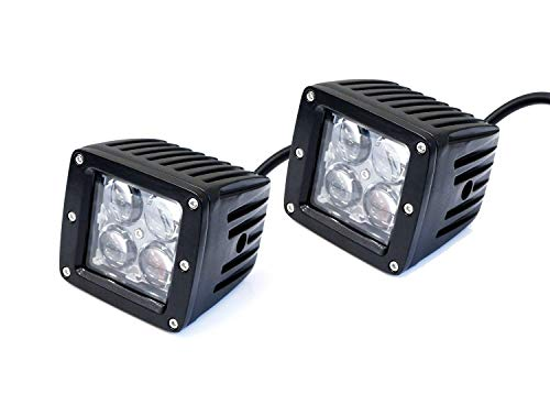 4d 3 Series Led (iJDMTOY (2) 20W High Power CREE 4D Optic 3-Inch Cubic LED Pod Lights For Truck Jeep Off-Road ATV 4WD 4x4, etc, Universal Fit)