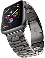 Apple Watch 金属ベルト Evershop 44mm/42mm ステンレス アップルウォッチ ベルト ビジネス風 時計バンド アップルウォッチ バンド 腕時計ストラップ バンド調整 series 1 series 2 series...