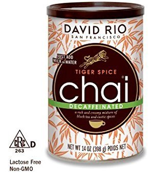 (David Rio Decaf Tiger Spice Chai,14 oz-2 cans)