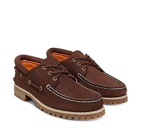 Timberland Authentics 3 Eye Dk Brn CA1JBR, Zapatos del barco POTTING SOIL