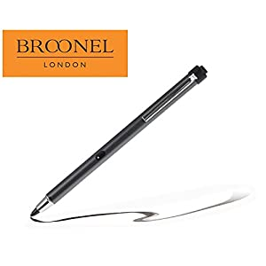 Broonel Metallic Grey Rechargeable Fine Point Digital Stylus for theiBall Slide Brace X1Mini