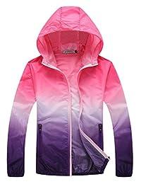 Zantt Women's Lightweight Waterproof Hooded Rain UV Skin Protect Loose Jacket