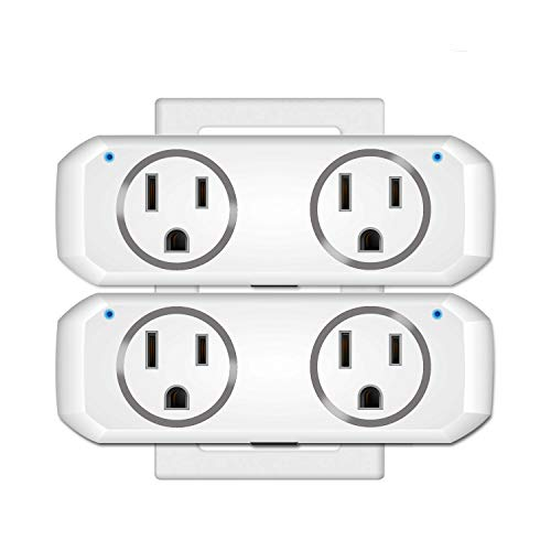 WiFi Smart Plug socket for use with Alexa Echo/Google Home/IFTTT, OUKITEL dual mini smart socket, remote control, timer, no hub required, ETL Listed-2 Pack -  OUKITEL Official Store, OKP1