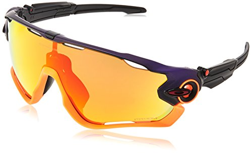 Oakley Men's Jawbreaker Non-Polarized Iridium Rectangular Sunglasses, PURPLE POP FADE, 0 ()