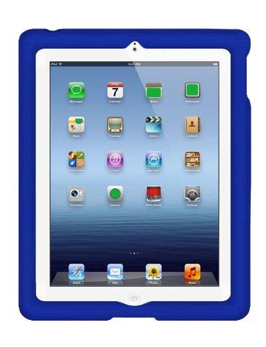 BobjGear Bobj Rugged Case for iPad 4, iPad 3, iPad 2 (not for iPad Air) Custom Fit - Patented Venting - Sound Amplification - BobjBounces Kid Friendly - Batfish Blue