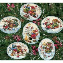 Dimensions Gold Collection Playful Snowman Ornaments Counted Cross Stitch -