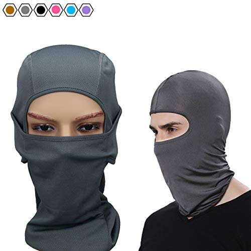LEAGY Balaclava Sports Face Mask/Premium Balaclava Ski Mask - Motorcycle Balaclava - Stay Warm and Dry/Face Mask Sports Balaclava. Half Face Mask, Half Mask (Grey)