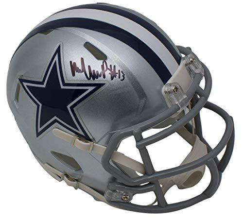 Michael Gallup Signed Dallas Cowboys Mini Speed Helmet TriStar Dallas Stars Mini Hockey Helmet