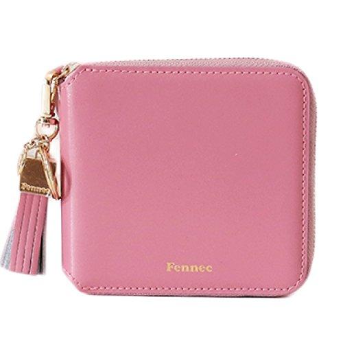 Fennec Zipper Wallet Square Tassel フェネック 二つ折り財布 コインケース付き 【Fennec OFFICIAL】 B078YP99LK ローズピンク ローズピンク