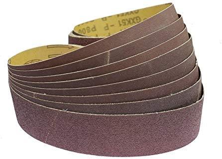 GHKUFH Abrasive Belt 10 Pieces 915 * 50mm Abrasive Sanding Belts for Wood Soft Metal Grinding Polishing,P60