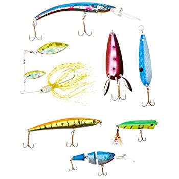 Image of Akuna Bulk Pack of 113 Lures with Crankbaits, Spoons and Spinnerbaits Spoons