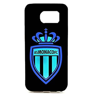 AS Monaco FC Black Background Logo Hot Hard Phone Case for Samsung Galaxy S6 Edge Plus