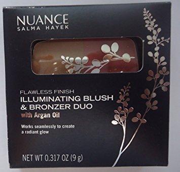 Finish Blush (Nuance Salma Hayek Flawless Finish Illuminating Blush & Bronzer Duo with Argan Oil #560 Bronzed Rosewood)