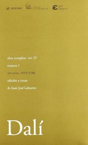 Descargar Libro Obra Completa Salvador Dalí Iv. Ensayos, I Salvador Dalí