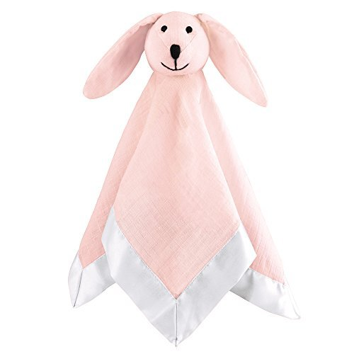 aden by aden + Anais Classic Lovey Blanket, Baby Cuddly Companion with Hypoallergenic Fill, Solid Pink Mist