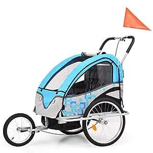 vidaXL Cochecito y Remolque de Bicicleta para Niños 2 en 1 ...