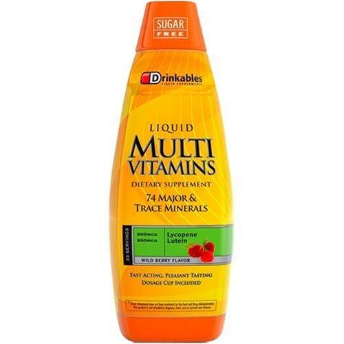 Buvables Ultimes liquides Multi Vitamines, baies sauvages, 33 onces (pack de 2)