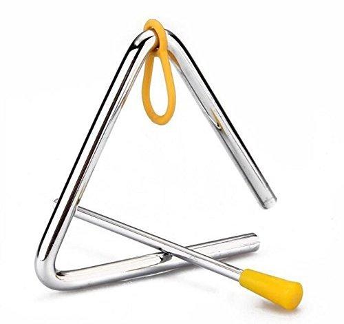 TYKusm Tri/ángulo Percussion Instrumento Musical Educativo Ni/ños Juguete Tiene Stick Para Hacer M/úsica Sencilla