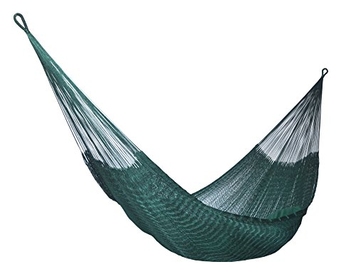 HAMMOCKS RADA- Handmade Yucatan Hammock - DURASOL - Dark Green - 3 Years Full Warranty in Outdoor and More Comfortable - HAMMOCKS RADA - DURASOL - 100% NYLON - HANDMADE - ALL WEATHER PRODUCT- NOW, MORE COMFORTABLE & WARRANTY OF 3 YEARS IN OUTDOOR NEW DESIGN - In base to the Feedbacks of our Customers, we REDESIGN the DURASOL Hammock and NOW is more Comfortable and Spacious, we adjusted the end strings and found a delicious Hammock to take la Siesta and Sleep all the night with the maximum comfort....Also we increased the quality control and ALL the DURASOL Hammocks are tested before be send it....Really we become a SUPERIOR DURASOL Hammock with the changes.....Try It EXTRAORDINARY RESISTANT - The New DURASOL Hammock is make with 100% Nylon Strings treated against the UV Sun Rays and the Rain or Wet Nights, that's means than the Nylon Strings NEVER will BREAK, so you can keep it in OUTDOOR during long terms and the Strings will survive any Weather Condition including SNOW - patio-furniture, patio, hammocks - 41wM6gHOv2L -