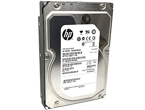HP/Seagate Constellation ES ST2000NM0011 (649401-003) 2TB 7200RPM 64MB Cache SATA 6.0Gb/s 3.5inch Internal Enterprise Hard Drive OEM - w/1 Year Warranty (Renewed) (Hp Warranty Information)
