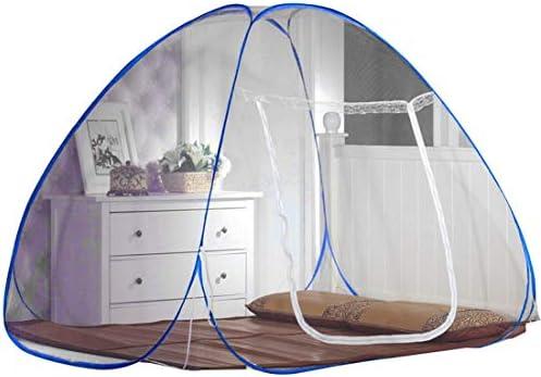Lvcao 모기장 원터치 접이식 바닥 1 도어 타입 또는 혐오 감 모기 방충제 싱글 하나의 싱글 침대 네 백신 밀도가 높은 아기용 아기 이동식 수납 편리 / Lvcao Mosquito Net One Touch Folding Type Bottomed 1 Door Type Or Insect Repellent Mosqui...