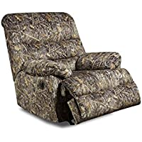 Simmons Upholstery Conceal Camo Power Rocker Recliner, Brown