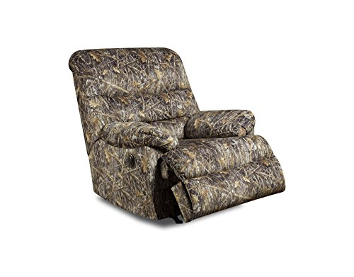 - Simmons Upholstery Conceal Camo Power Rocker Recliner Brown