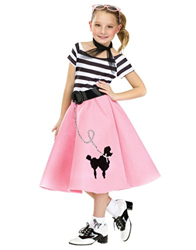 POODLE DOG COSTUME CHLD MEDIUM (50s Pink Poodle Girls Costume)