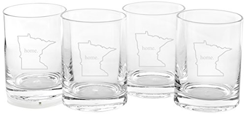 (Cathy's Concepts Personalized Home State Drinking Glasses, Set of 4, Minnesota)
