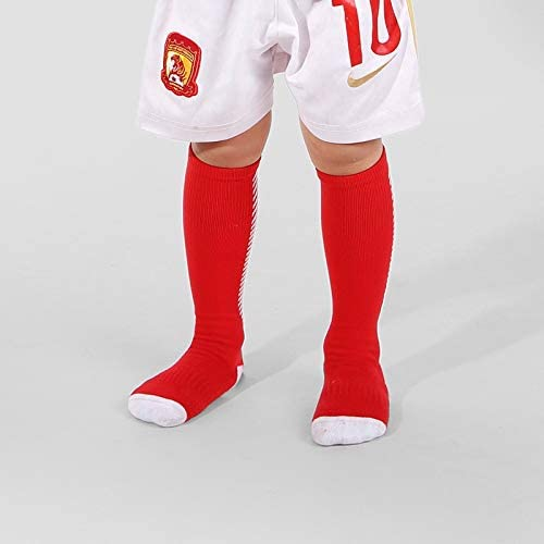 スポーツソックス 靴下 子供用スポーツソックス厚手のタオルボトムサッカーソックス膝上滑り止めストッキング (Color : Red, Size : 4-6age)