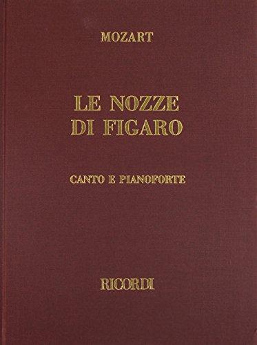 (Le Nozze Di Figaro Vocal Score Cloth Italian Marriage Of)