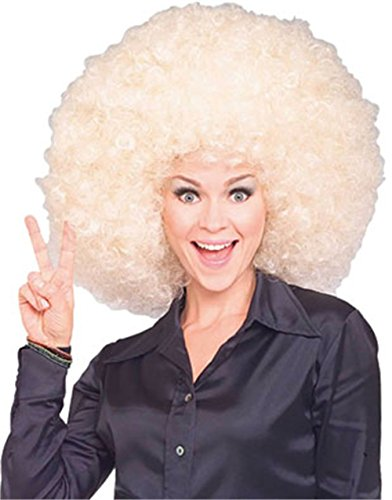 [Rubie's Costume Super Size Blond Afro Wig, Yellow, One Size] (Singer Fancy Dress Costumes)