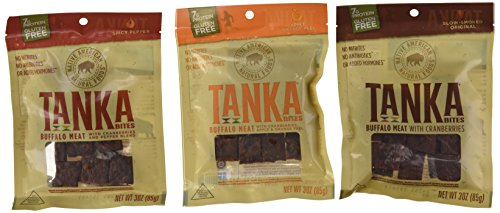 Tanka Bites Buffalo Meat Variety 3 oz Pack of 3