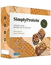 SimplyProtein Cookie Bar, Plant Based, Rich in Fibre, Gluten Free, 2 g Sugar, Plant Powered Fuel, Vegan, Snack Bar