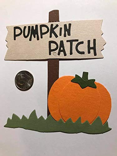 1 Pumpkin Patch Sign Premade PAPER Die Cuts Scrapbook /& Card Making