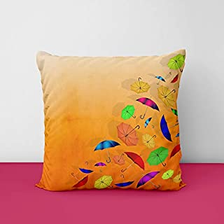 Beatifull Umbrela Square Design Printed Cushion Cover