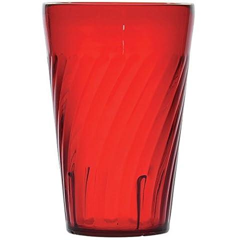 GET Enterprises 2216-1-R Tahiti Red 16 oz. Tumbler - Case of 72 - Drinkware Tahiti Tumblers