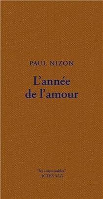 L'Année de l'amour par Nizon