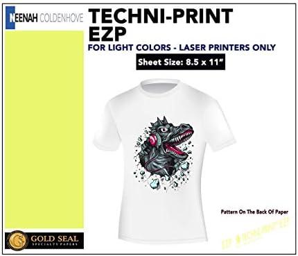 Laser Iron on Transfer Paper Techni-print EZP 10 Pack