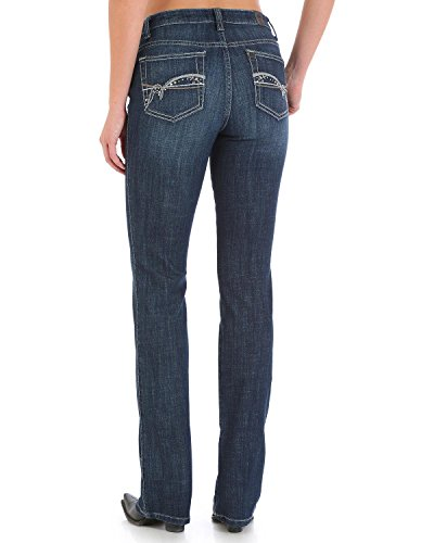 Instantly Slimming Jean (Wrangler Women's Aura Instantly Slimming Jeans Boot Cut Indigo 6 Sht)