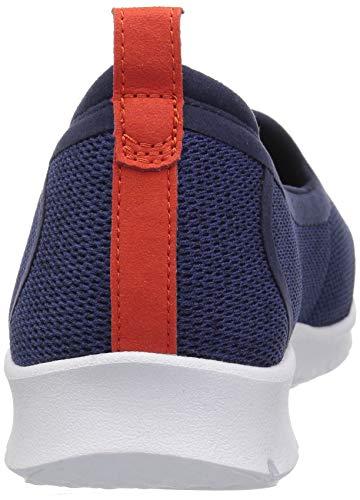 Allena Textile Loafer CLARKS Flat Navy Step Lo Women's zBBn18Wf