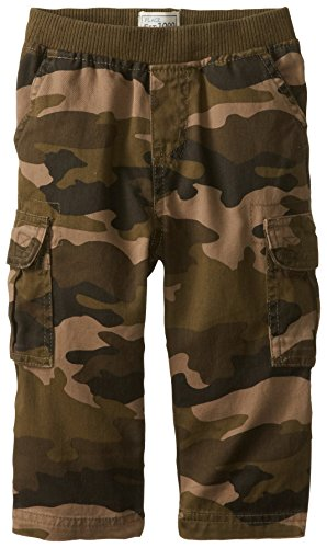 The Children's Place Baby Boys' Pull-on Cargo Pant, Olive Camo, 12-18 Months