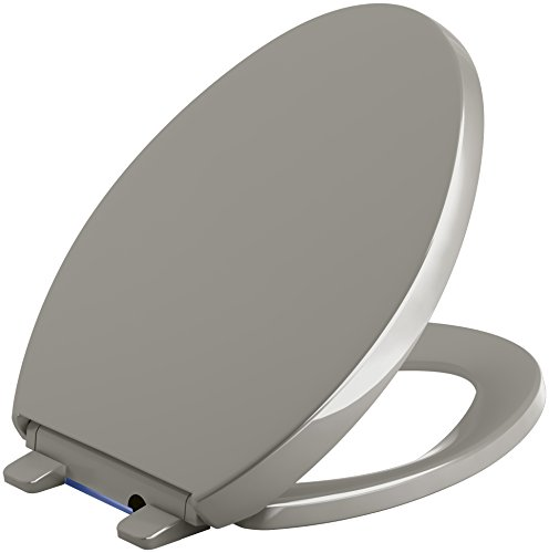 KOHLER 75792-K4 Reveal Nightlight Quiet-Close with Grip-Tight Elongated-Front Toilet Seat, Cashmere ()