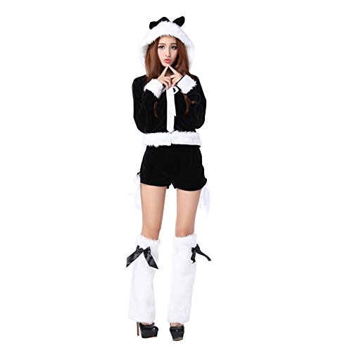 MITIAO Women'S Christmas Santa Costume Miss Kitty Costume Black